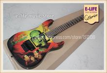 Latest Finished Kirk Hammett Metallic ESP Guitar KH2 M-II Mummy Karloff Tlmummy Electric Guitar In Stock For Sale(China (Mainland))