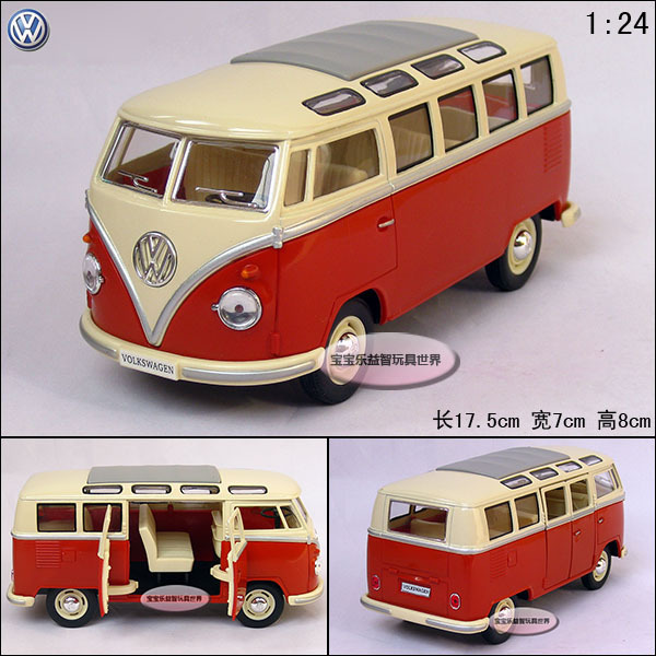 2015 Car model toy 1:24 2014 hot sale toys for children volkswagen classic bus Large alloy car model free shipping(China (Mainland))