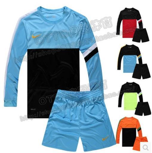 Long-sleeved football kit L-3XL Professional football training suits men's soccer clothing suits(China (Mainland))