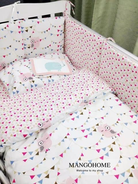 3 шт./компл. детское постельное белье комплект 100% хлопок кроватки постельных принадлежностей ...