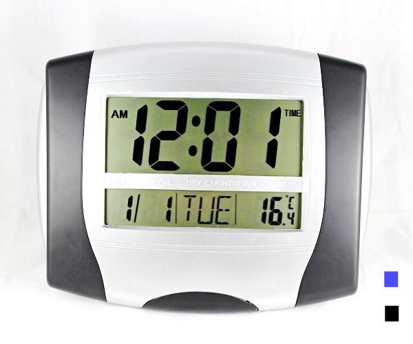 Calendar Clock Wallpaper : Big led display digital alarm clock with calendar time