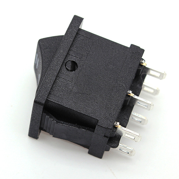 2015 HOT SALE DPDT ON OFF ON 6 Terminals 3 Position Snap In Boat Rocker Switch