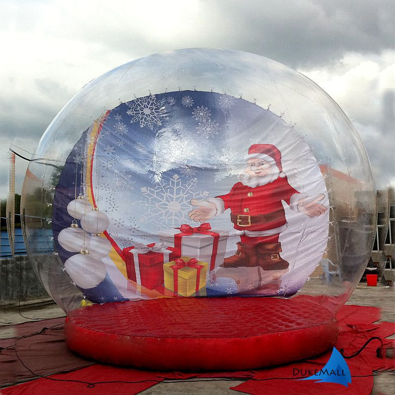 Giant snow globe christmas outdoor decoration for Outdoor christmas globes