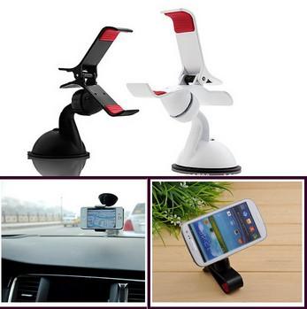 Универсальный 360 град. спин лобовое стекло автомобиля горе сотовый мобильный телефон держатель кронштейн выступает за iPhone5 4S для samsung смартфон GPS