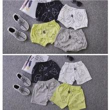 nununu* new arrival 2016 baby boys girls cotton short pants geometric pattern kids summer cloth 1-5Y fashion free shipping(China (Mainland))