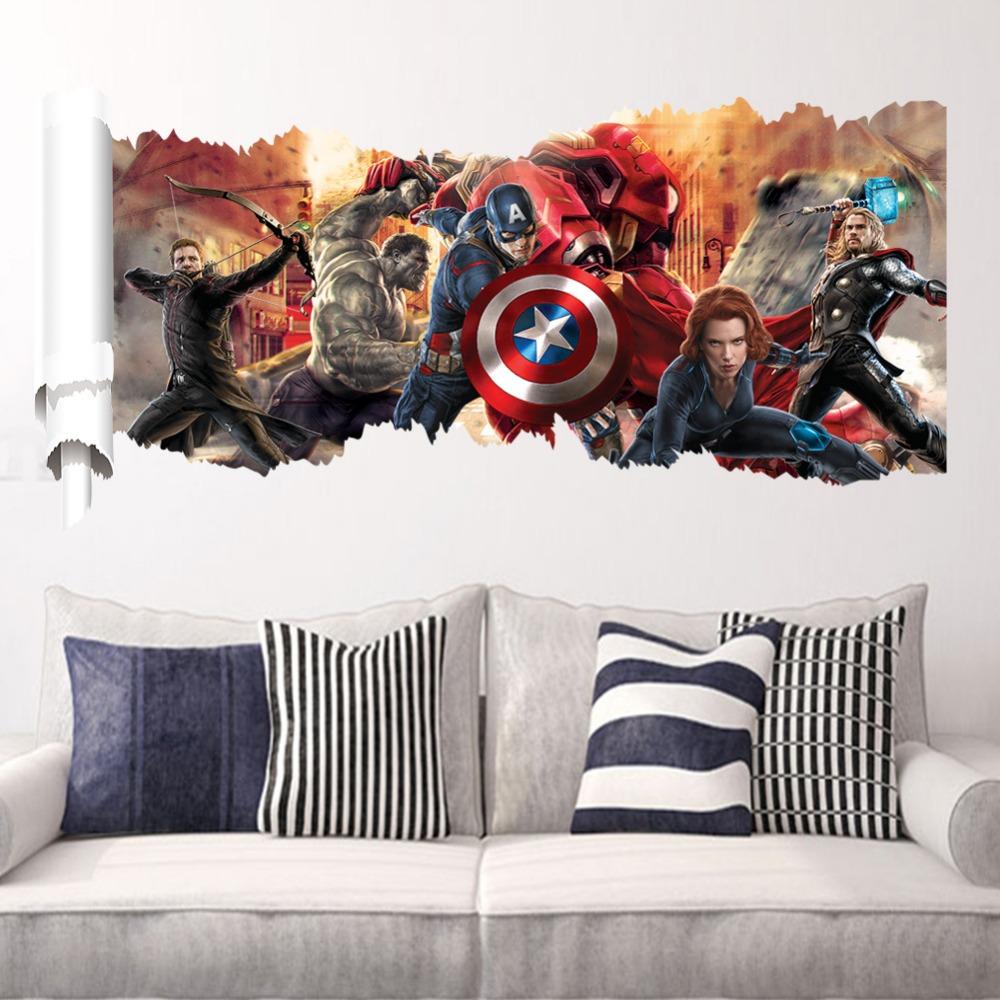 Marvel Superhero Bedroom Marvel Heroes Bedroom Decor