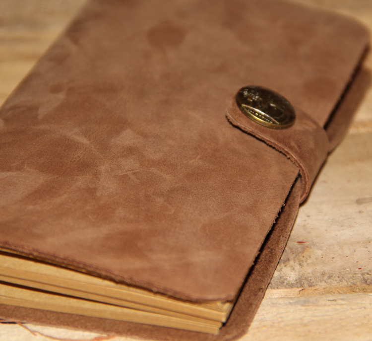 Handmade cowhide notepad universal leather thick notebook retro leather loose-leaf diary book