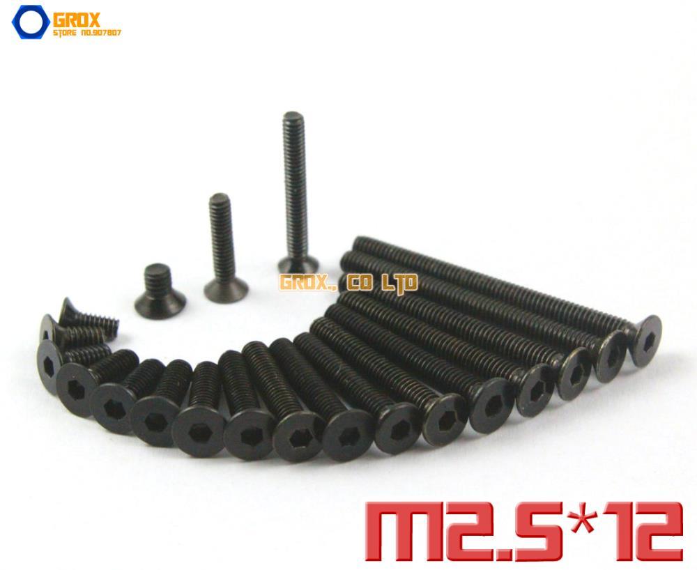 150 Pieces M2.5 x 12mm 10.9 Grade Alloy Steel Countersunk Socket Allen Bolt Screw<br><br>Aliexpress