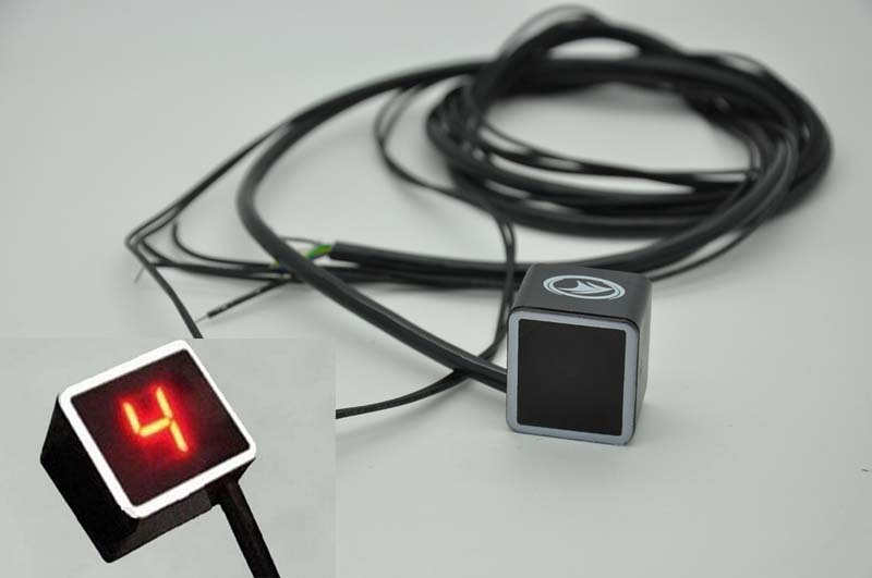 Hot Sale Red Light LED Universal Digital Gear Indicator Motorcycle Display Shift Lever Sensor Free Shipping !(China (Mainland))