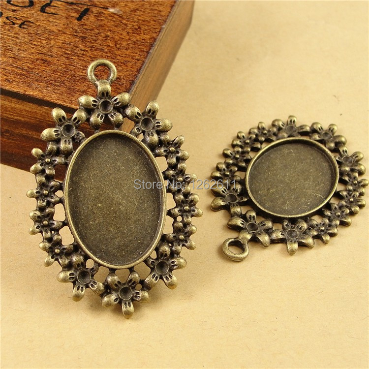 a1161 zinc alloy pendant blanks for jewelry cameo cabochon
