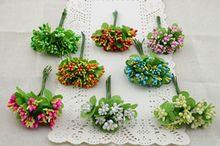 10pcs Mini DIY artificial berries bouquet wedding bouquet cherry flower stamens Christmas decoration(China (Mainland))