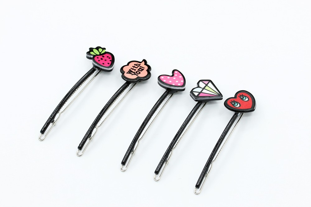 New Fashion Lovely Hair Pins and Clips Cartoon Patterns Elastic Hair Rubber Bands Girls Kids Headwear Accessories for Women