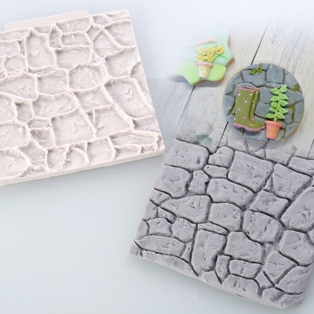 Stone Rock Rocky Decoration Fondant Cake, 3D Cake Tool, DIY Food Grade Silicone Cake Mold, Handmade Candy, Sugar Mould(China (Mainland))