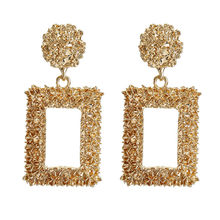 ZA Statement Metal Vintage Drop Earrings Trendy Jewelry Big Geometric 2019 Fashion India Dangle Pendant Earring Wholesale(China)