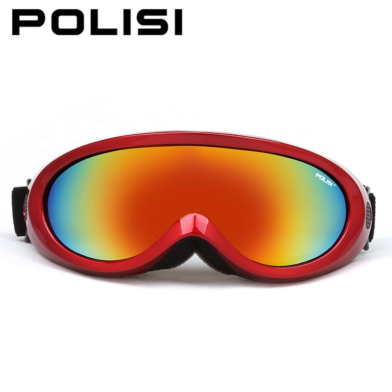 2017 POLISI P-313 Outdoor Sports Ski Goggles Kids Snow Board Glasses Lunette De Ski Enfant Gafas De Snow Ski Goggles for Kids(China (Mainland))