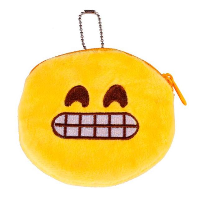 Новое женщин плюшевые мягкие портмоне симпатичные Emoji кошельки хранения monederos ...