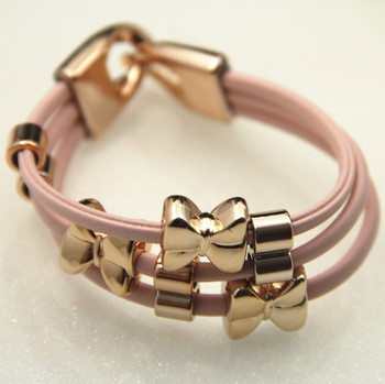 Sunshine jewelry store fashion little bow cute bracelets for women s155 (min  $10 free shipping order)