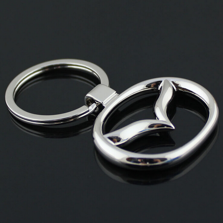 Metal 3D MAZDA Car Keychain Keyring For Auto Key Chain Ring YOWO(China (Mainland))