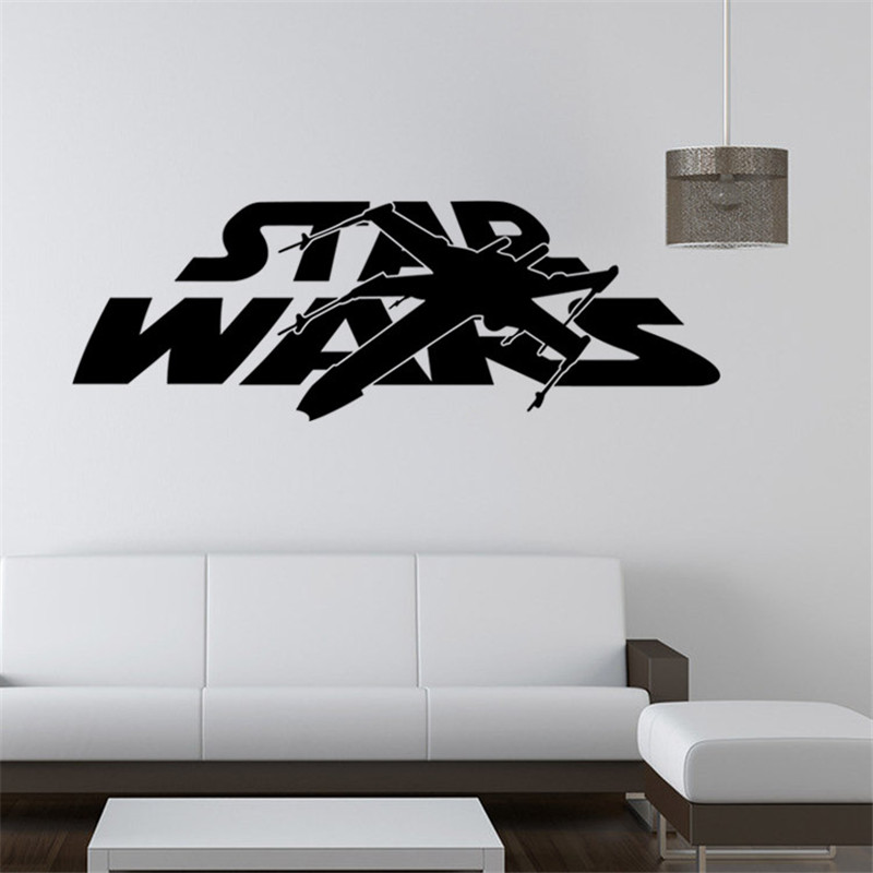 Star Wars Wall Sticker Home Decor Wall Stickers Sitting Room Bedroom Adornment Stickers Removable Waterproof Decorative Vinyl(China (Mainland))