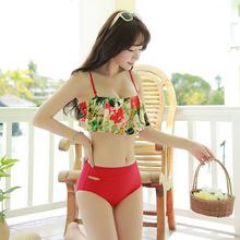 Sexy Swimsuit Women Swimming Suit For Bikini Set Top Push Up Swim Beach Wear Girls Ruffled Maillots De Bain Femmes Costume Da