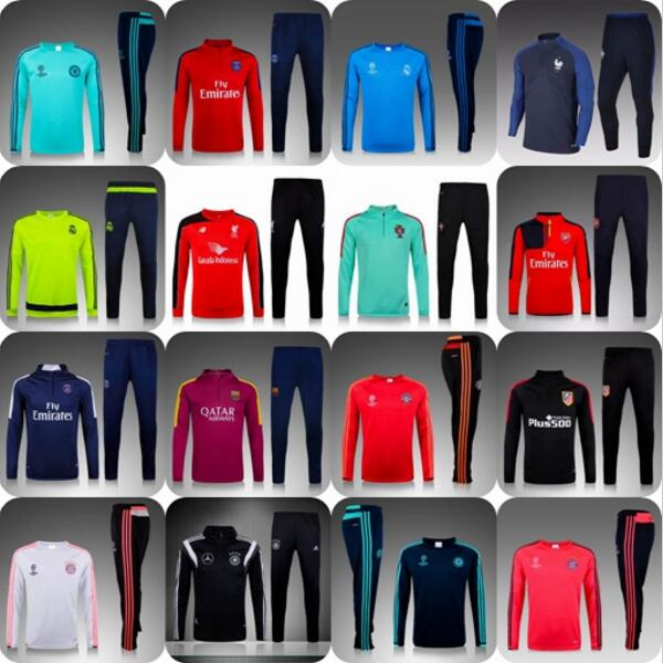 2016 Adult Kits Survetement Football Chelseaes maillot de foot REALS Training suit Soccer Tracksuits skinny jogging pants(China (Mainland))