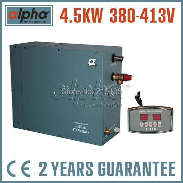 4.5KW380-415V 3phase 50HZ CE certified NEW STEAM GENERATOR Never open carton for SHOWER SAUNA BATH HOME SPA Fantastic design(China (Mainland))