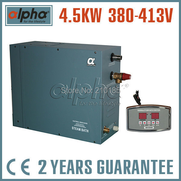 4.5KW380-415V 3phase 50HZ CE certified NEW STEAM GENERATOR Never open carton for SHOWER SAUNA BATH HOME SPA Fantastic design(China (Mainland))