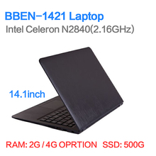 "14"" ultrabook laptop computer 2/4GB RAM 500GB HDD 1366*768 HD N2840 Dual core WIFI camera bluetooth computer(China (Mainland))"