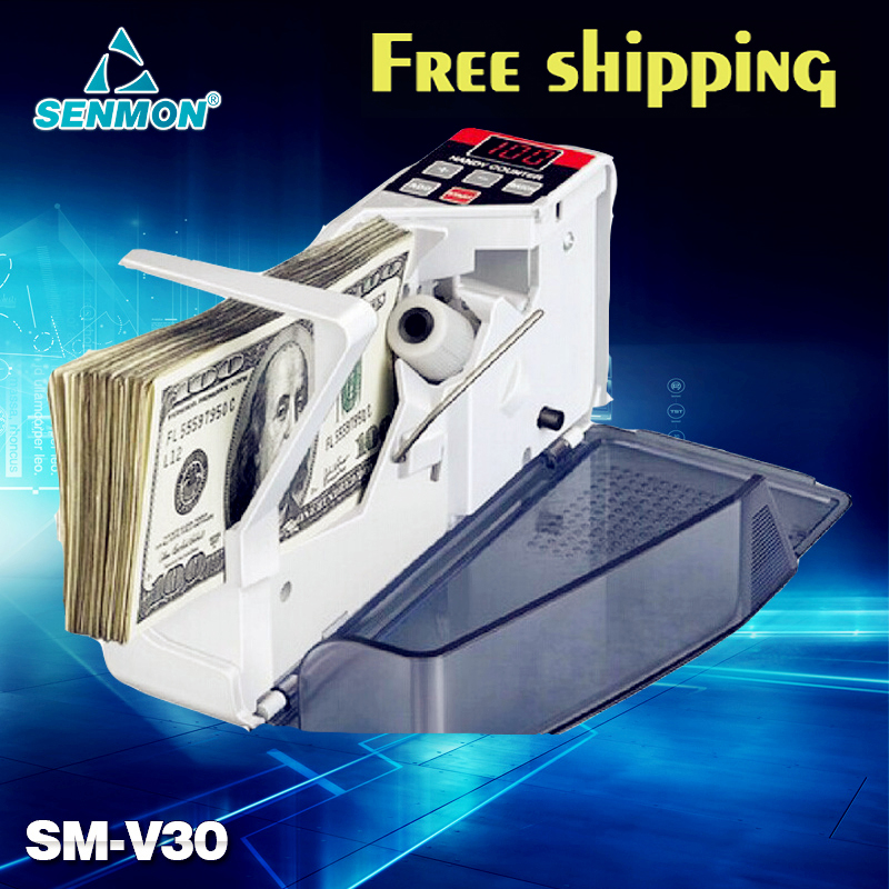Portable Mini Handy Money Currency Counter Cash Bill Counting Machine AC100-240V Financial Equipment<br><br>Aliexpress