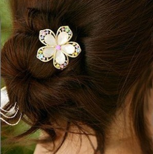 wholesale fat plug rhinestone hair fork maker flower hairpin comb hair pin hair jewelry bridal tiara comb for hair(China (Mainland))