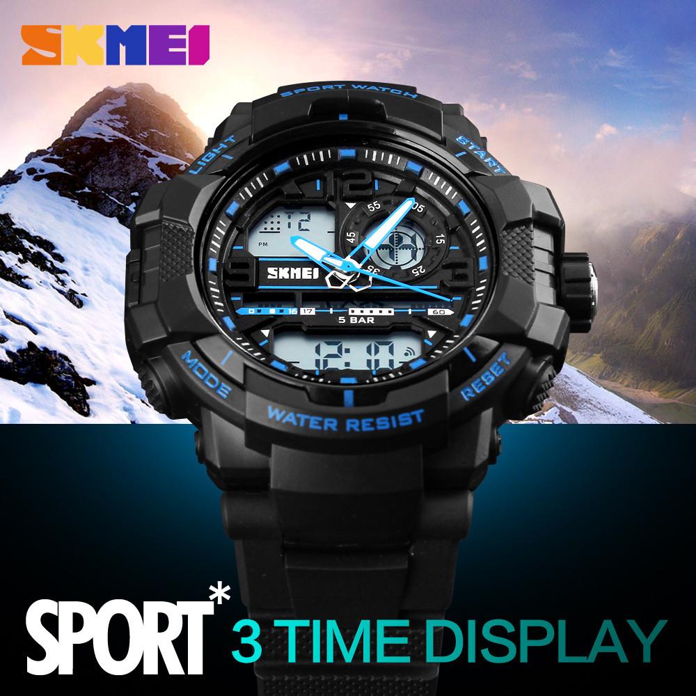 Skmei Цифровой Водонепроницаемые Часы Многофункциональный EL световая Сигнализация На Открытом Воздухе и Спорта