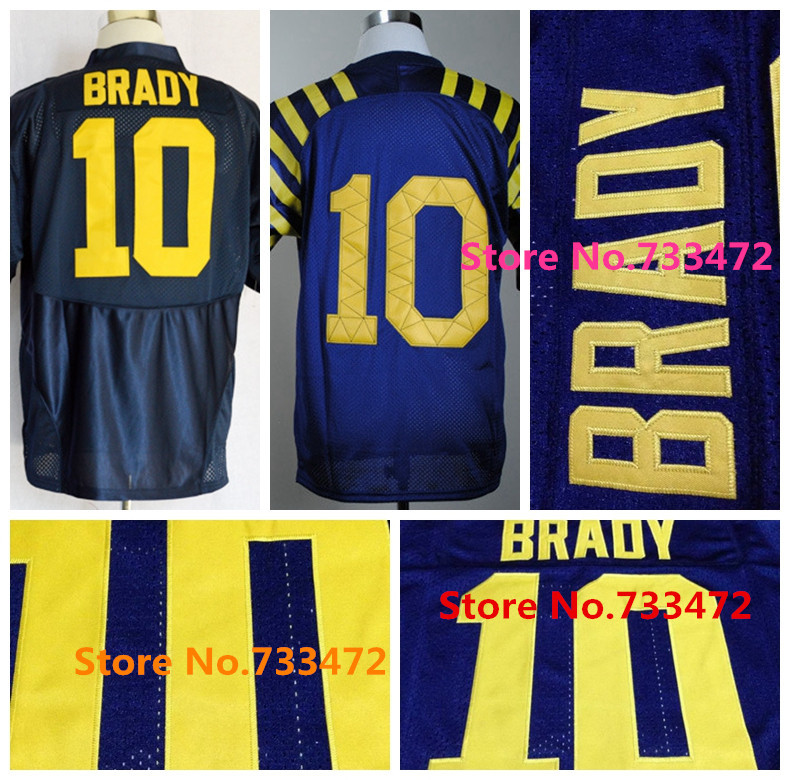2015 NWT Top Quality #10 Tom Brady Jersey Blue Under The Lights College Football Jerseys Best Stitched Cheap Tom Brady Shirts(China (Mainland))