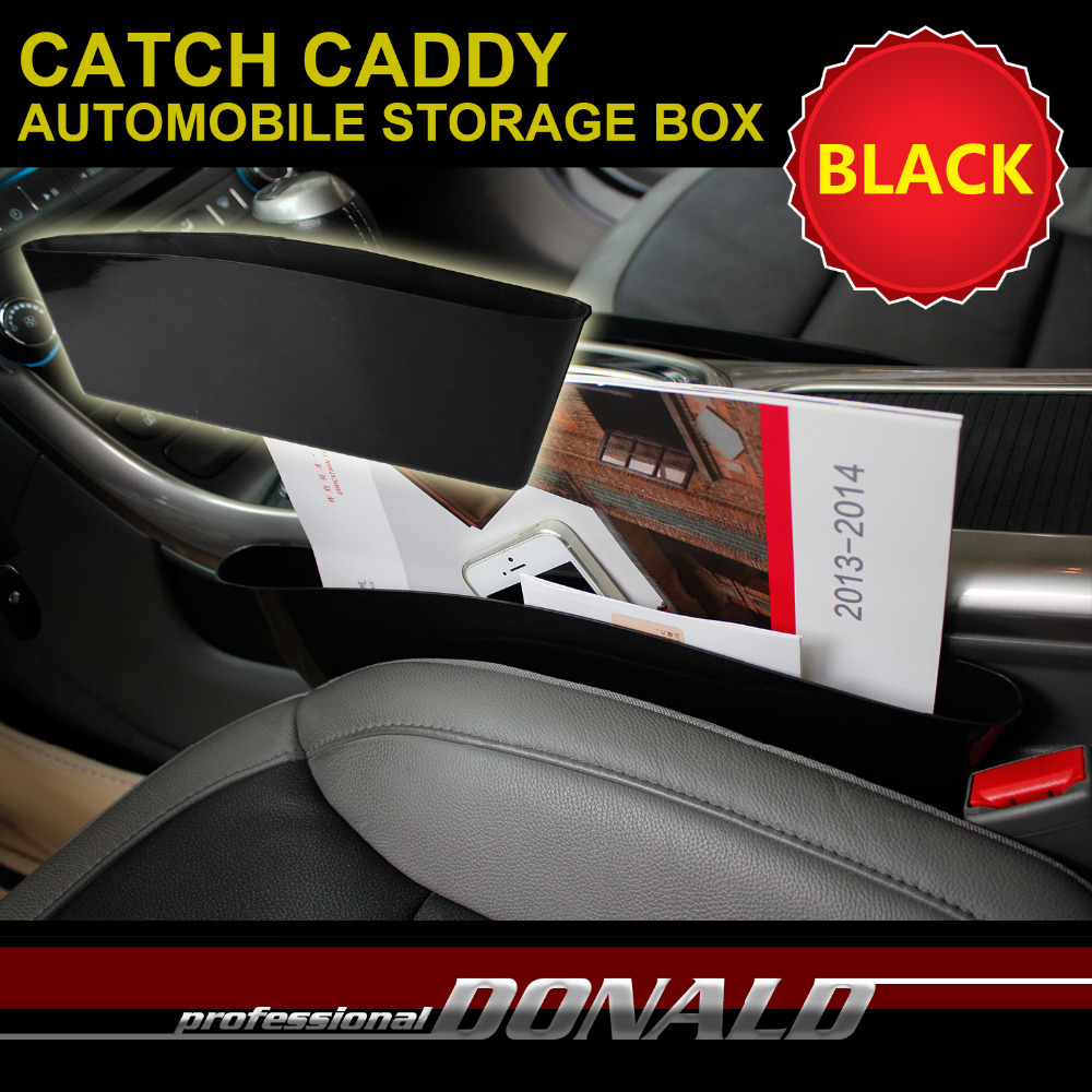 2015 New Arrival Auto Accessories 1x car seat pocket catcher car storage box automobile glove box black color(China (Mainland))