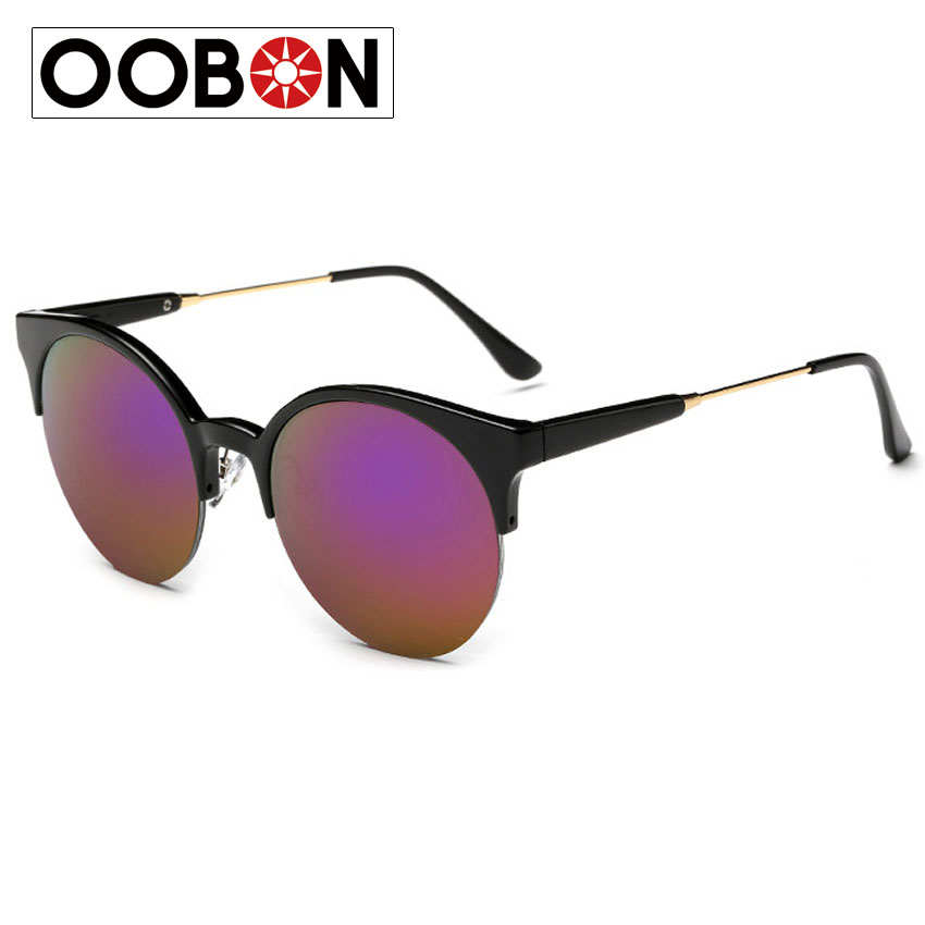Oobon 2016 Luxury Sunglasses For Women Brand Designer Vintage Retro Round Sunglasses Men Luxury Brand Original Oculos De Sol(China (Mainland))
