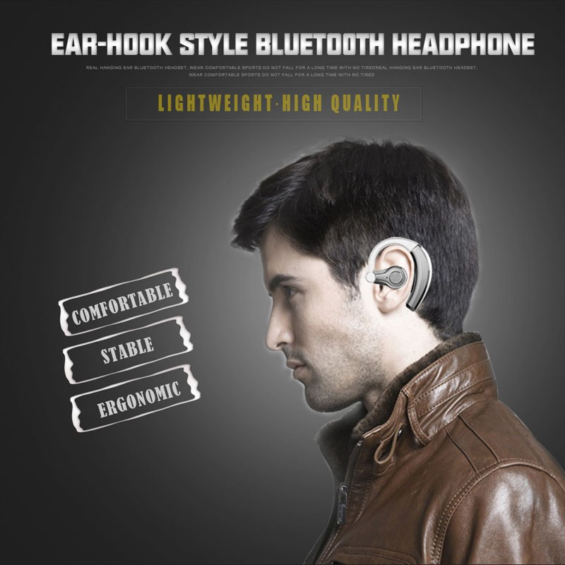 Sports Bluetooth Earphones With Mic Wireless Handsfree Music Business Bluetooth Headphones Noise Cancelling Rechargeable