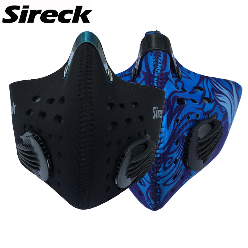 Sireck Men Women Cycling Mask Balaclava Training Mask Dustproof&Anti-pollution Activated Carbon Filter MTB Road DH Bicycle Mask(China (Mainland))