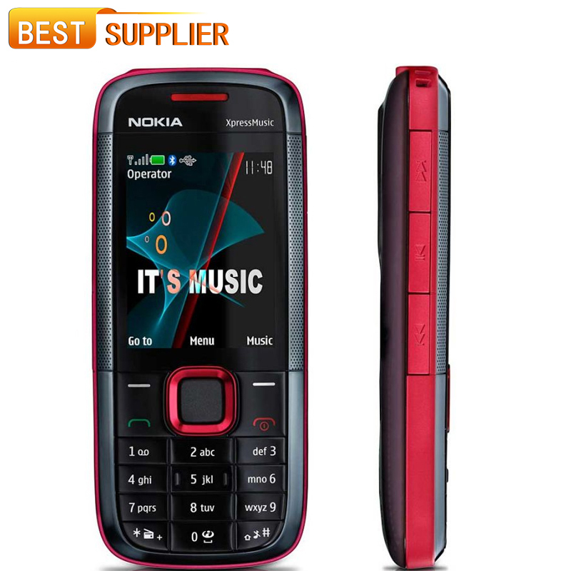 2016 Top Fashion Sale Color Normal(>10mm) Bar Original Nokia 5130 Xpressmusic Russian Keyboard Mobile Phone and Shipping(China (Mainland))