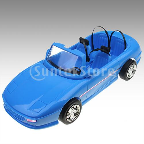 Free Shipping 4-seats Blue Convertible Car Cabriolet Toy For Doll(China (Mainland))