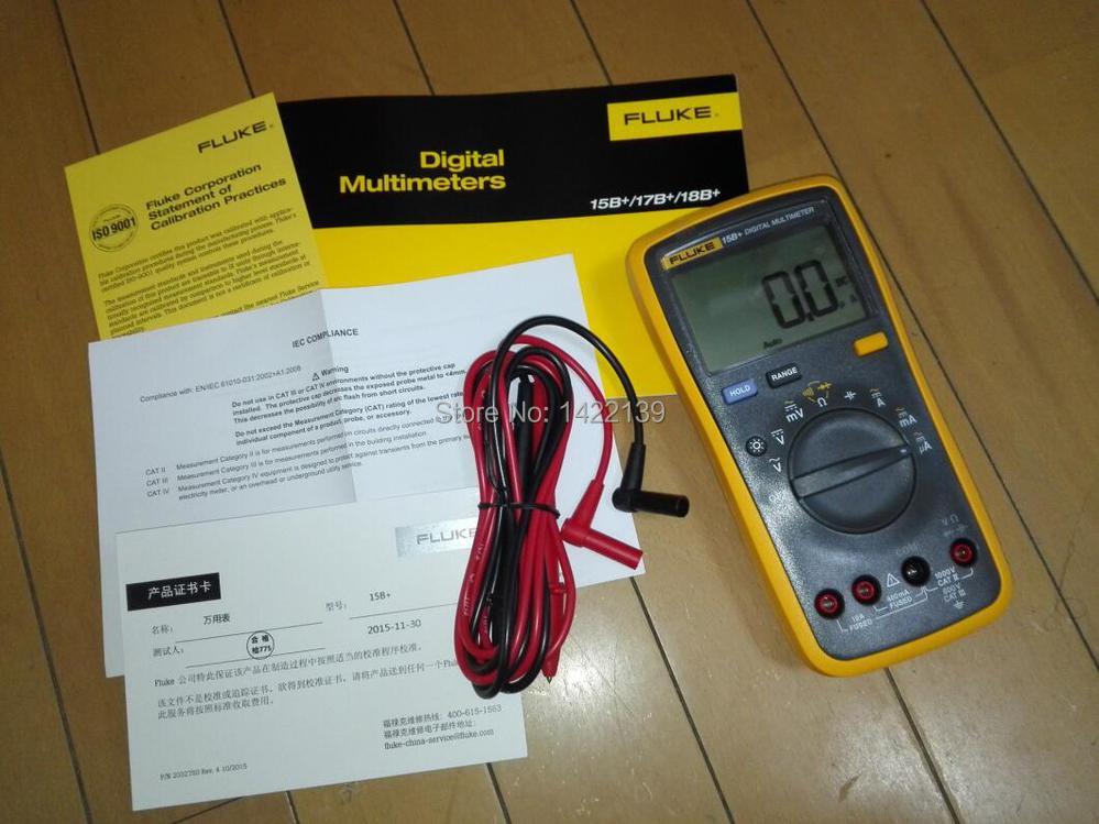 FLUKE F15B+ Auto Range Digital Multimeter Meter DMM Volt Ohm Capacitance