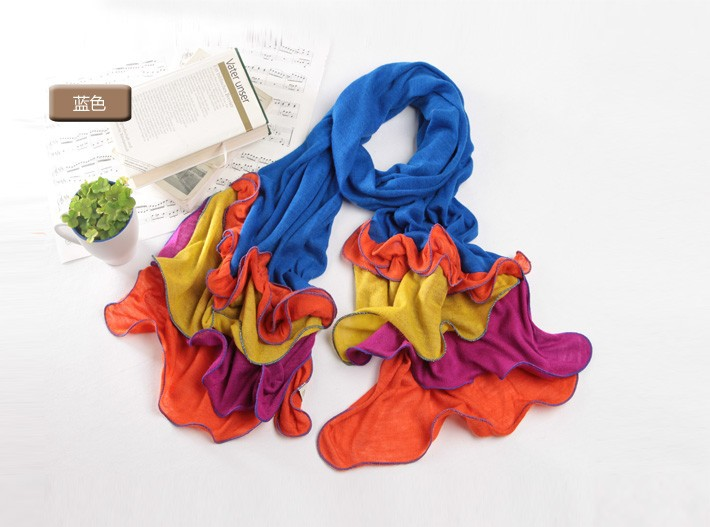 2015 New Fashion Colorful Wool Blanket Scarf Spain Desigual Style Women's Long Shawl Autumn Winter Cape