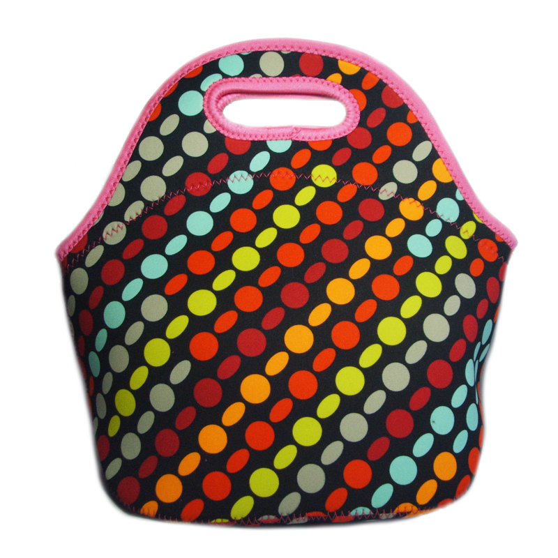 100% thicker Neoprene thermal bag bolsa de franja cooler bag lunch bag insulation lunchboxes for women can keep warm and cooler(China (Mainland))
