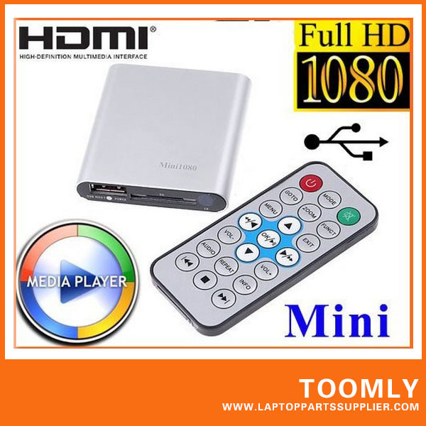 Hot sell Mini Media Player Mini 1080P HDMI SD USB HD Media Player MKV RM RMVB free shipping(China (Mainland))