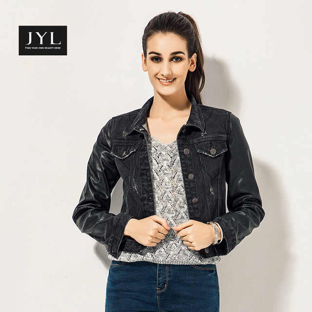 Black Denim Jacket Ladies