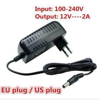 12V2A AC 100V-240V Converter Adapter DC 12V 2A 2000mA Power Supply EU Plug for LED CCTV(China (Mainland))