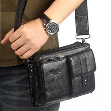Buy Men Genuine Leather First Layer Cowhide Messenger Shoulder Cross Body Bag Waist Fanny Belt Hip Bum Male Clutch Tote Hand Bag for $26.59 in AliExpress store
