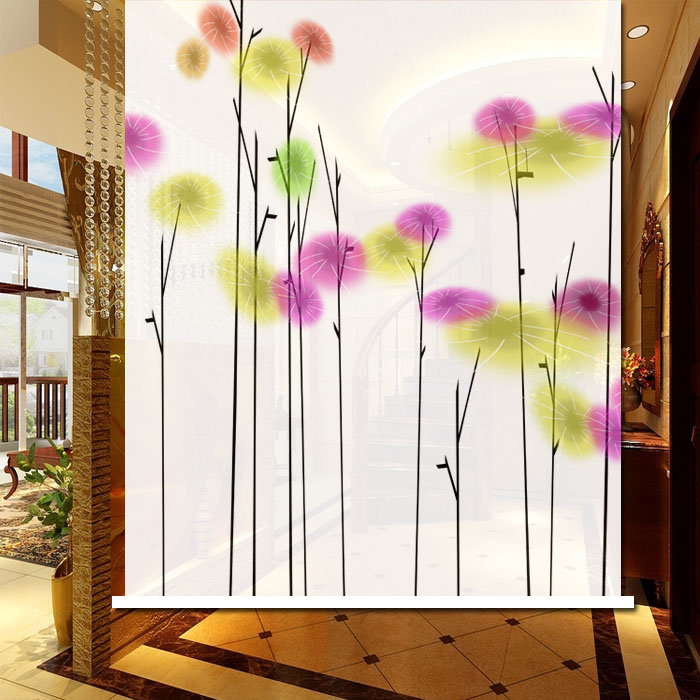 New Year Roller shutter abstract small flower curtain partition simple door bookcase curtain Christmas gift shutter blinds(China (Mainland))