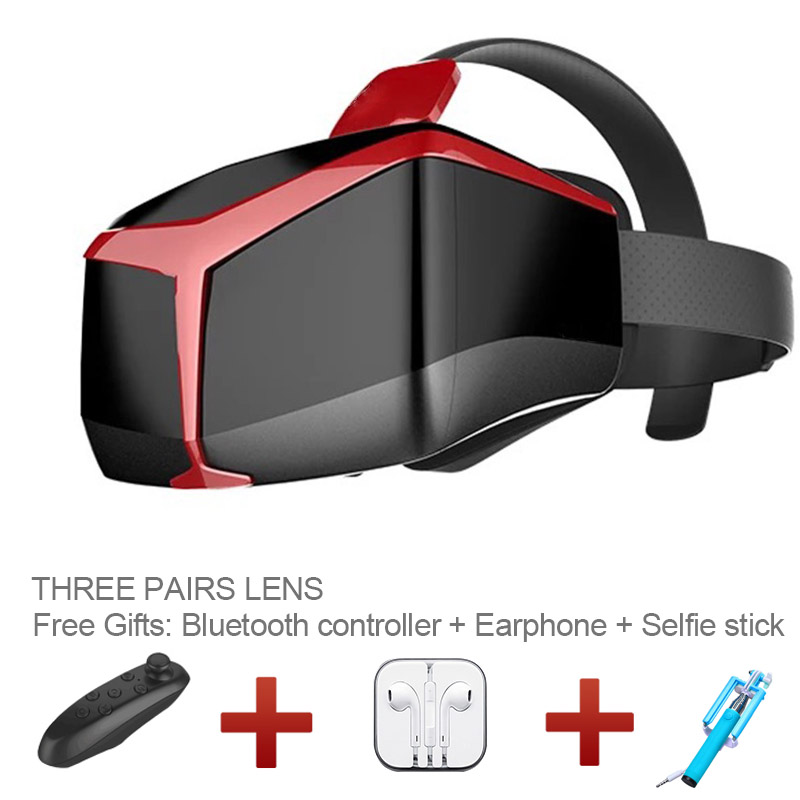 3D virtual reality UCVR box IMAX video 3D VR glasses google cardboard for IOS/android smart phone + bluetooth controller(China (Mainland))