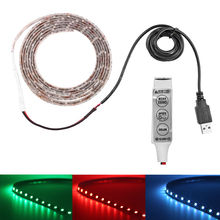 Buy 50CM 1M 2M USB LED Strip Light 5V 5050 SMD IP65/non Waterproof RGB leds tape ribbon lamp Flexible TV Background Lighting for $3.59 in AliExpress store