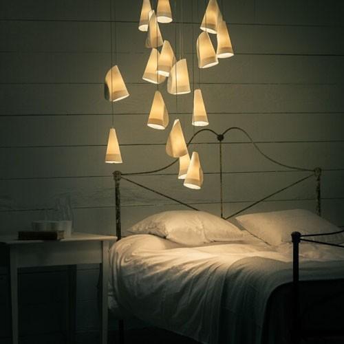 Здесь можно купить  CONTEMPORARY WHITE CERAMIC PENDANT BOCCI LAMP 21.3 METEOR SHOWER CHANDELIER BRUSHED NICKEL BASE (BULBS INCLUDED, FREE SHIPPING)  Свет и освещение