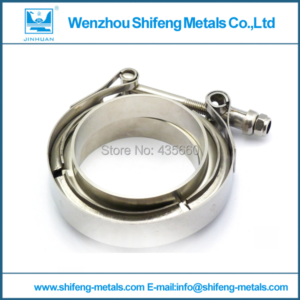 "5"" V Band clamp flange Kit (Stainless Steel 304 Clamp+SUS304 Flange) For turbo exhaust downpipe(China (Mainland))"